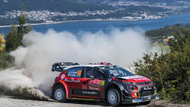 CAMINHA, PORTUGAL - MAY 18: Kris Meeke of Great Britain and Paul Nagle of Ireland compete in their Citroen Total Abu Dhabi WRT Citroen C3 WRC during the SS3 Caminha of the WRC Portugal on May 18, 2018 in Caminha, Portugal. (Photo by Octavio Passos/Getty Images)