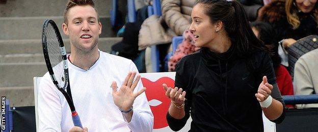 Jack Sock and Laura Robson
