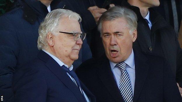 Carlo Ancelotti and Bill Kenwright