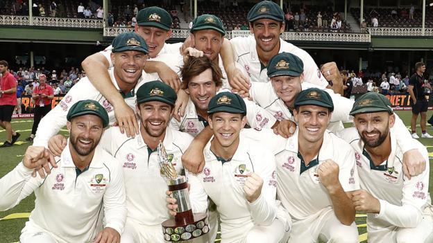 Australia v New Zealand: Nathan Lyon takes 5-50 as hosts win series 3-0 thumbnail