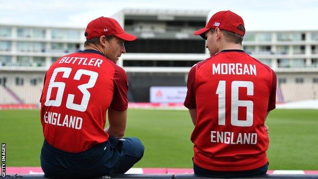 England's Jos Buttler and Eoin Morgan