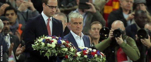 Didier Deschamps and Prince William