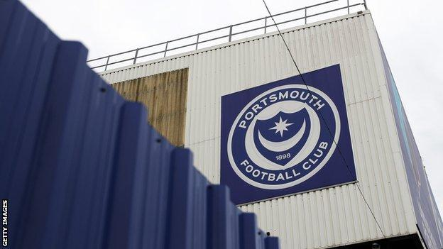 Portsmouth badge on the Milton End