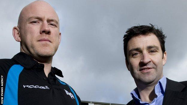 Steve Tandy and Andrew Hore at Ospreys in 2012