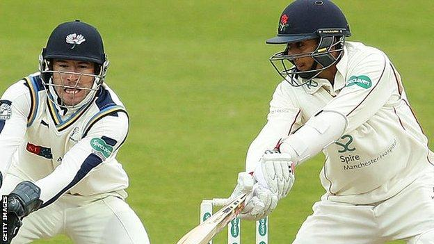 Yorkshire wicketkeeper Andrew Hodd is on close attendance to Lancashire's teenage opener Haseeb Hameed