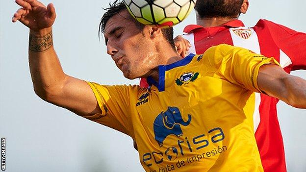 Sergi Guardiola in action for his former club Alcorcon