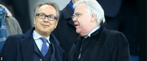 New Everton owner Farhad Moshiri (left) with Bill Kenwright