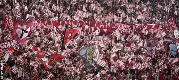 Olympiakos supporters