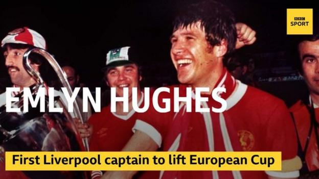 Emlyn Hughes was the first player to captain Liverpool to European Cup success