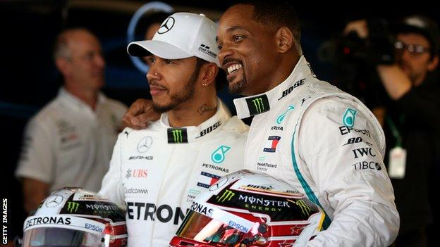 Lewis Hamilton and Will Smith