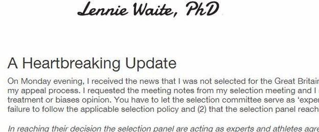 Lennie Waite's blog
