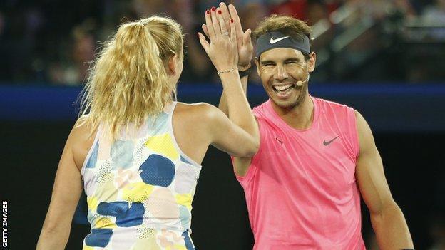 Petra Kvitova and Rafael Nadal