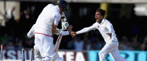Mohammad Amir finished with three wickets in his first Test since 2010