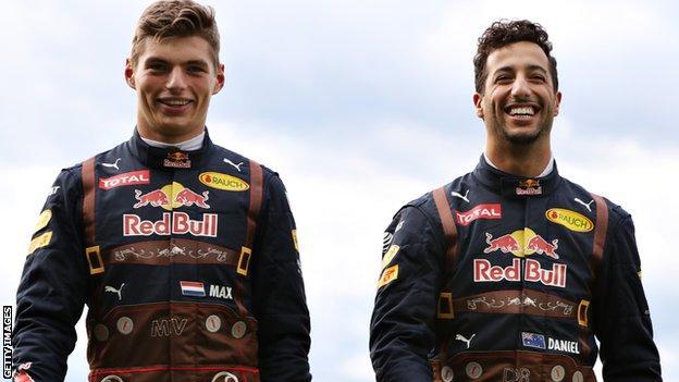Max Verstappen and Daniel Ricciardo