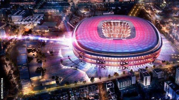 Barcelona's Nou Camp stadium