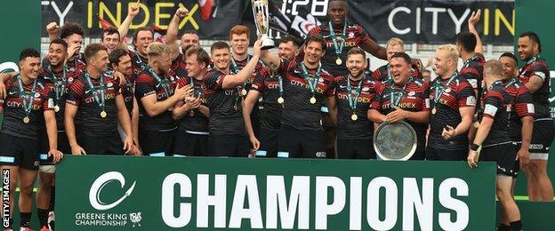 Saracens lift the Championship title