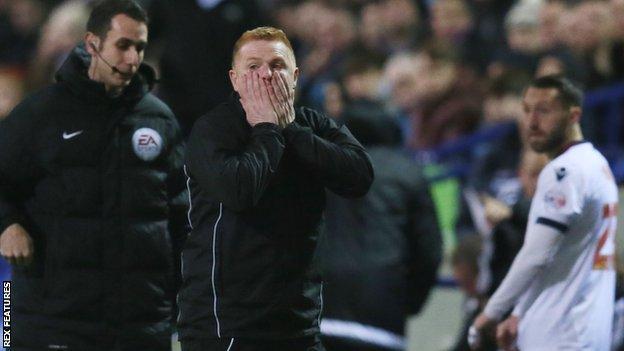 Bolton manager Neil Lennon