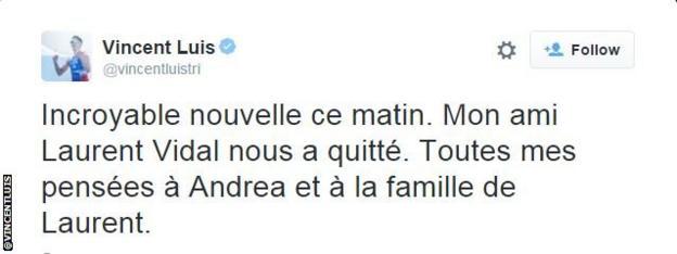 Vincent Luis tweet snip