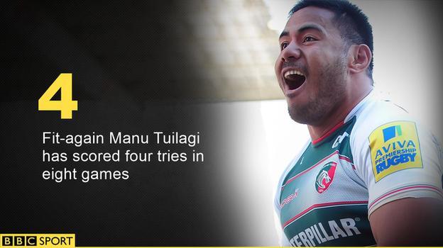Leicester Tigers' Manu Tuilagi