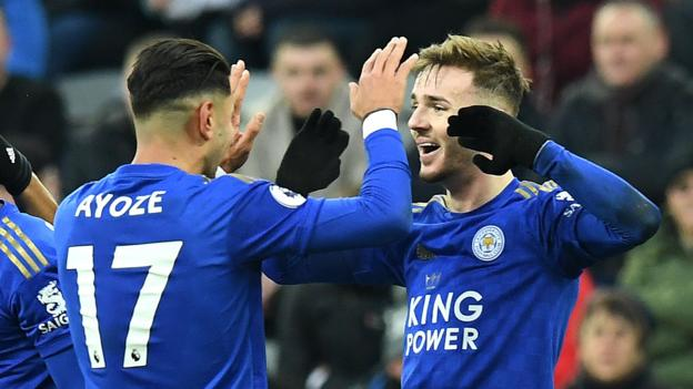 Newcastle United 0-3 Leicester City: Foxes brush aside 10-man Newcastle thumbnail