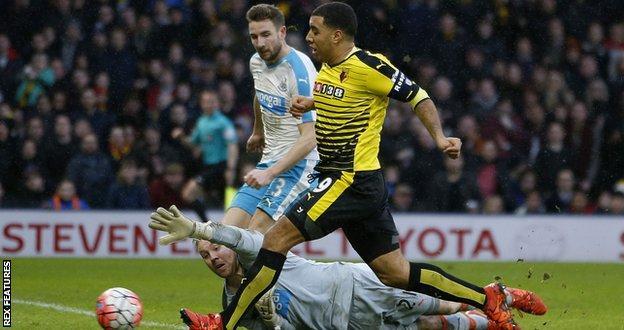 Watford striker Troy Deeney