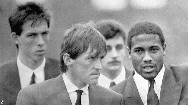 Kenny Dalglish attends the funeral of Gary Church