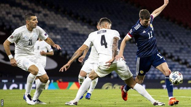 Scotland were held 1-1 at home by Israel in this month's Nations League meeting