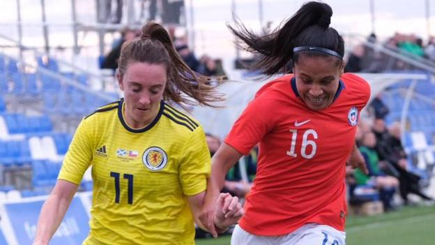 Scotland women 1-1 Chile women: Shelley Kerr's side held in World Cup warm-up match thumbnail