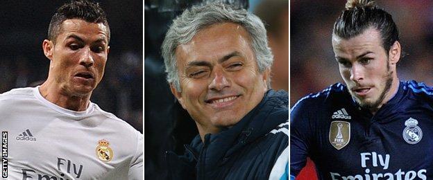 Cristiano Ronaldo, Jose Mourinho, Gareth Bale