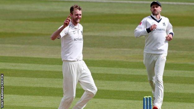 Oliver Hannon Dalby's five-wicket haul was his first since his career-best 12 in the match at Bristol last August