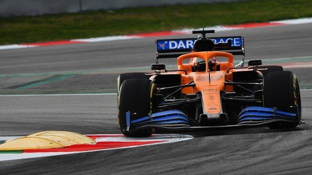 MCL35 Mclaren F1 car