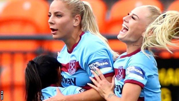 West Ham Women celebrate