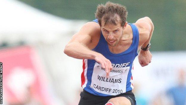 Hurdler Rhys Williams is the son of Wales and Lions great JJ Williams