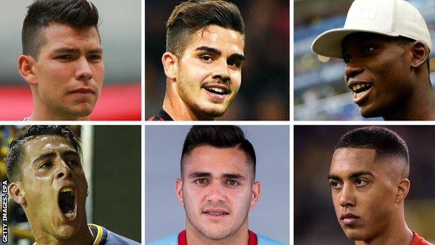 Hirving Lozano, Andre Silva, Breel Embolo, Youri Tielemans, Maxi Gomez, Cristian Pavon
