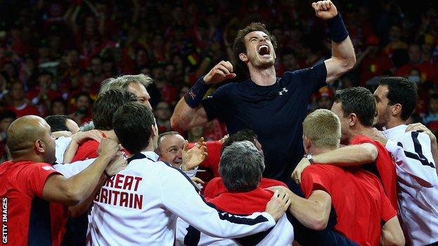 Andy Murray won every match he played in the Davis Cup winning run