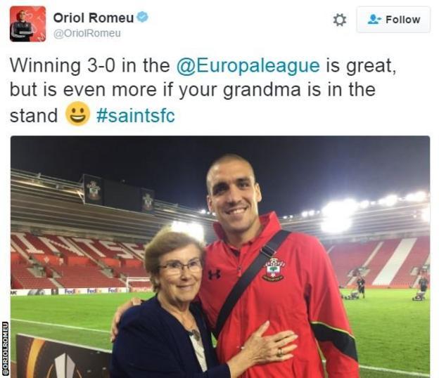 Oriol Romeu tweet