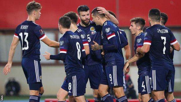 Scotland have a 13% chance of reaching the World Cup finals, according to statisticians Gracenote