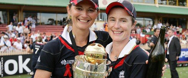Charlotte Edwards and Claire Taylor