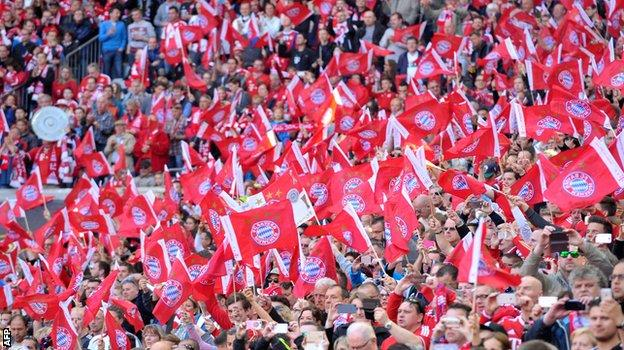 Bayern Munich crowd