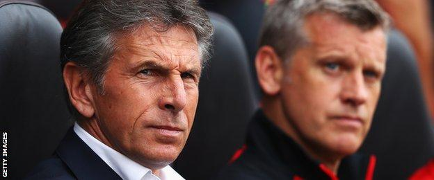 Eric Black and Southampton manager Claude Puel