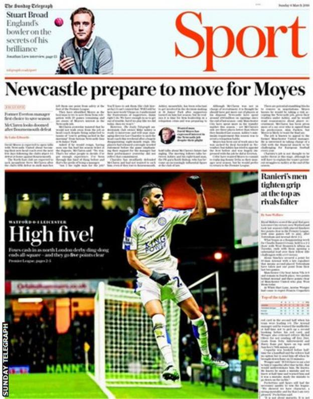 Sunday Telegraph sport section