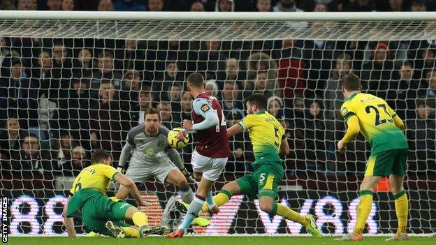 Conor Hourihane scores against Norwich