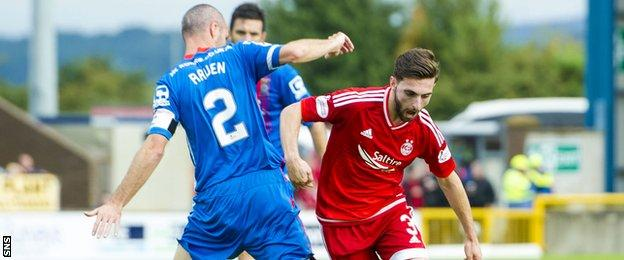 Graeme Shinnie (right) faced his old club Inverness for the first time since his move to Aberdeen