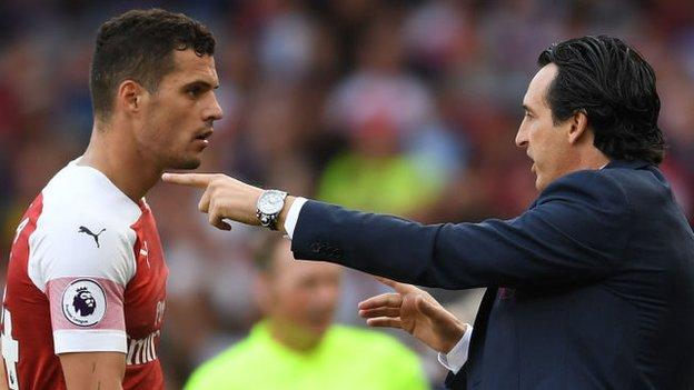 Granit Xhaka and Unai Emery