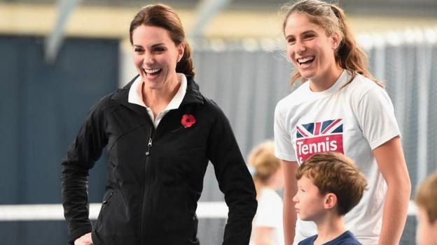 The Duchess of Cambridge and Johanna Konta