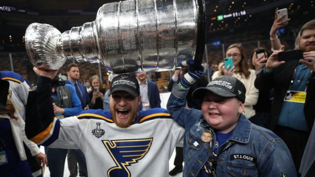 Stanley Cup: St Louis Blues beat Boston Bruins to win trophy for first time