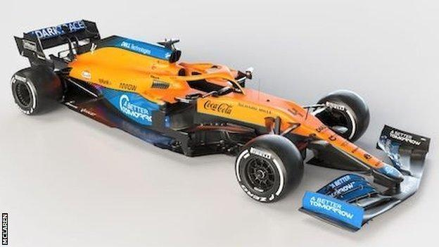 McLaren car for 2021