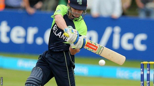 William Porterfield top-scored for the Irish in Brisbane with 27