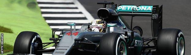 Lewis Hamilton at the British Grand Prix