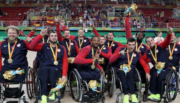 USA men's wheelchair basketball team